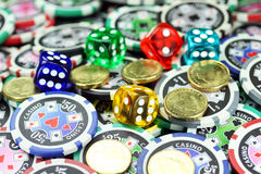 Glücksspiel vernünftig! Lizenzfreies Stockbild