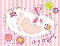 Glückwünsche auf der Geburt eines Mädchens Stockfotografie