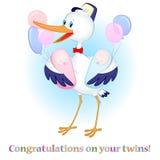 Glückwünsche auf Ihren Zwillingen Stockfoto