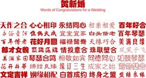 Glückwünsche für eine Hochzeit stock abbildung