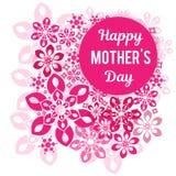 Glückwünsche an Ihrem Mutter ` s Tag Auf einem Hintergrund ein vegetatives Muster Stockfoto