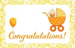 Glückwünsche Baby Karte Englisch Vektor Vektor Abbildung