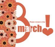 Glückwünsche am Tag der internationalen Frauen Lizenzfreie Stockbilder