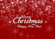 Glückwünsche von Weihnachten und von guten Rutsch ins Neue Jahr Stockfotografie