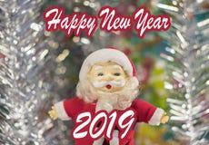 Glückwünsche zu Santa Claus Happy New Year lizenzfreie stockbilder