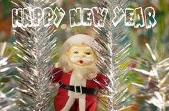 Glückwünsche zu Santa Claus Happy New Year stockbild