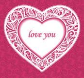 Glückwünsche zum Heilig-Valentinstag. Lizenzfreie Stockfotos