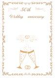 Glückwünsche zur Hochzeit mit 50 Jahrestagen Lizenzfreies Stockfoto