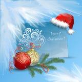 Glückwunsch-frohe Weihnachten, guten Rutsch ins Neue Jahr Lizenzfreie Stockbilder