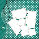 Glückwunsch-Green Card mit Blättern für Auslegung Lizenzfreie Stockbilder