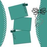 Glückwunsch-Green Card mit Blättern für Auslegung Stockfoto