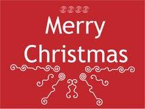 Glückwunsch mit Weihnachten Lizenzfreies Stockbild