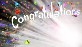 Glückwunsch-Strahln-Hintergrund Lizenzfreies Stockfoto