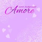 Glückwunschhintergrund für Valentinstag Lizenzfreies Stockfoto