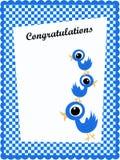 Glückwunschkarte Stockbild