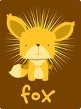 Glückwunschkarte mit nettem Fuchs der Illustration Vektor Abbildung