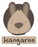 Glückwunschkarte mit nettem Känguru der Illustration Stock Abbildung