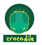 Glückwunschkarte mit nettem Krokodil der Illustration Stock Abbildung