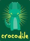 Glückwunschkarte mit nettem Krokodil der Illustration Vektor Abbildung