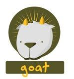 Glückwunschkarte mit netter Ziege der Illustration Lizenzfreie Abbildung