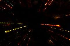 Glühen der Farbe auf einem schwarzen Hintergrund Lizenzfreies Stockfoto