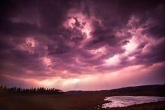 Glühen des Blitzes Stockfotografie