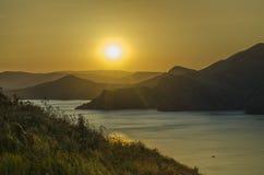 Glühen des Sonnenuntergangs Lizenzfreies Stockfoto