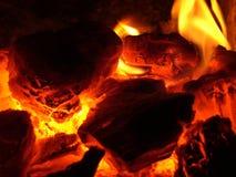 Glühen im Ofen Stockfotografie