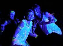 Glühen-Lauf Port Elizabeth Südafrika 2014 Stockfotografie