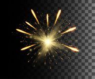 Glühen lokalisierte weißen transparenten Effekt, Blendenfleck, Explosion, Funkeln, Linie, Sonnenblitz, Funken und Sterne Für Illu stock abbildung