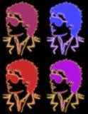 Glühen Michael-Jackson lizenzfreie abbildung