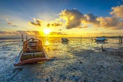 Glühen am schönen Morgen stockfoto