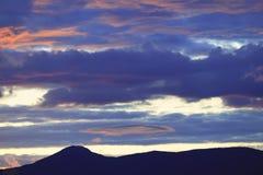 Glühen Sie nach Sonnenuntergang, Stowe, Vt, USA Lizenzfreie Stockfotografie