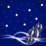 Glühen stars Weihnachtskugeln Stockfotografie