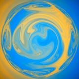Glühen und wachsender Strudel, helle Scheine und Lichter, abstrakte Strudelerdkugel lizenzfreie abbildung