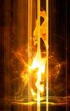Glühend Stockbild