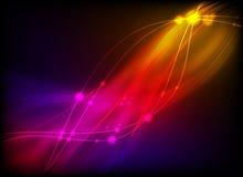 Glühende abstrakte Leuchte Stock Abbildung