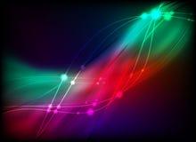 Glühende abstrakte Leuchte Vektor Abbildung