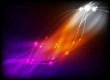 Glühende abstrakte Leuchte Lizenzfreie Abbildung