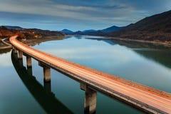 Glühende Brücke Stockfotografie