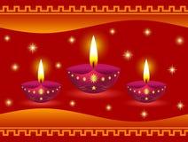 Glühende Diwali Lampen