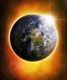 Glühende Erde Stockfotografie