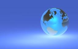 Glühende Erde-Kugel - rechte Lagebestimmung Stockbild