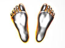Glühende Füße Stockfotos