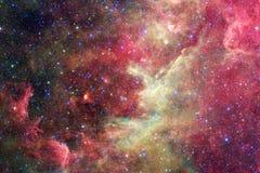 Glühende Galaxie, ehrfürchtige Zukunftsromantapete stock abbildung