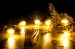Glühende Girlande des neuen Jahres Lizenzfreies Stockbild