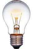 Glühende Glühlampe Lizenzfreies Stockfoto