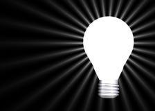 Glühende Glühlampe lizenzfreie stockfotos