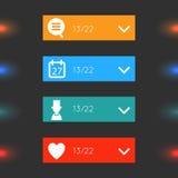 Glühende Glas-infographics Wahlfahnen Lizenzfreies Stockfoto