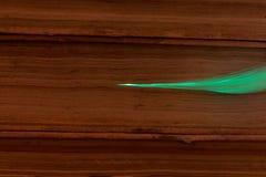 Glühende Glasfaserkabel angeschlossen mit alten Büchern Stockbild